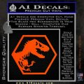 Jurassic Park Hexagon Logo Decal Sticker Orange Vinyl Emblem 120x120