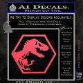 Jurassic Park Hexagon Logo Decal Sticker Pink Vinyl Emblem 120x120