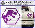 Jurassic Park Hexagon Logo Decal Sticker Purple Vinyl 120x97