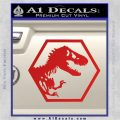 Jurassic Park Hexagon Logo Decal Sticker Red Vinyl 120x120