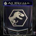 Jurassic Park Hexagon Logo Decal Sticker Silver Vinyl 120x120