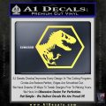 Jurassic Park Hexagon Logo Decal Sticker Yellow Vinyl 120x120