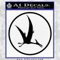 Jurassic Park Pterodactyl Decal Sticker Black Vinyl Logo Emblem 120x120