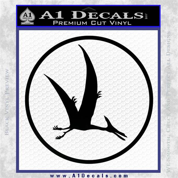Jurassic Park Pterodactyl Decal Sticker Black Vinyl Logo Emblem