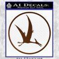 Jurassic Park Pterodactyl Decal Sticker Brown Vinyl 120x120
