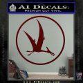 Jurassic Park Pterodactyl Decal Sticker Dark Red Vinyl 120x120