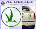 Jurassic Park Pterodactyl Decal Sticker Green Vinyl 120x97