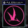 Jurassic Park Pterodactyl Decal Sticker Hot Pink Vinyl 120x120