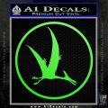 Jurassic Park Pterodactyl Decal Sticker Lime Green Vinyl 120x120