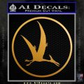 Jurassic Park Pterodactyl Decal Sticker Metallic Gold Vinyl 120x120