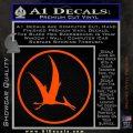 Jurassic Park Pterodactyl Decal Sticker Orange Vinyl Emblem 120x120
