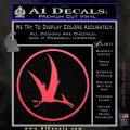 Jurassic Park Pterodactyl Decal Sticker Pink Vinyl Emblem 120x120