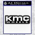 KMC Wheels Decal Sticker D1 Black Vinyl Logo Emblem 120x120