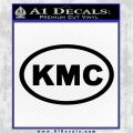 KMC Wheels Oval Decal Sticker Black Vinyl Logo Emblem 120x120