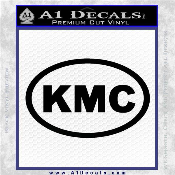 KMC Wheels Oval Decal Sticker Black Vinyl Logo Emblem