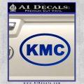 KMC Wheels Oval Decal Sticker Blue Vinyl 120x120