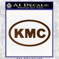 KMC Wheels Oval Decal Sticker Brown Vinyl 120x120