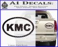 KMC Wheels Oval Decal Sticker Carbon Fiber Black 120x97