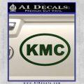 KMC Wheels Oval Decal Sticker Dark Green Vinyl 120x120