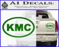KMC Wheels Oval Decal Sticker Green Vinyl 120x97