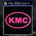 KMC Wheels Oval Decal Sticker Hot Pink Vinyl 120x120