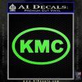 KMC Wheels Oval Decal Sticker Lime Green Vinyl 120x120
