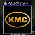 KMC Wheels Oval Decal Sticker Metallic Gold Vinyl 120x120