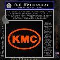 KMC Wheels Oval Decal Sticker Orange Vinyl Emblem 120x120