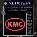 KMC Wheels Oval Decal Sticker Pink Vinyl Emblem 120x120