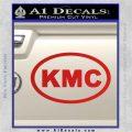 KMC Wheels Oval Decal Sticker Red Vinyl 120x120