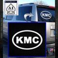 KMC Wheels Oval Decal Sticker White Vinyl Emblem 120x120