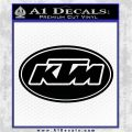 KTM Decal Sticker OV1 Black Vinyl Logo Emblem 120x120