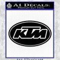 KTM Decal Sticker OV1 Black Vinyl Logo Emblem 120x120
