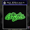 Kawasaki Ninja Decal Sticker D7 Lime Green Vinyl 120x120