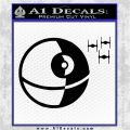 Killer Satellite Spaceship DTFs Decal Sticker Black Vinyl Logo Emblem 120x120