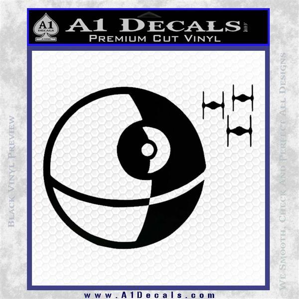 Killer Satellite Spaceship DTFs Decal Sticker Black Vinyl Logo Emblem