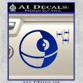 Killer Satellite Spaceship DTFs Decal Sticker Blue Vinyl 120x120