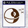 Killer Satellite Spaceship DTFs Decal Sticker Brown Vinyl 120x120