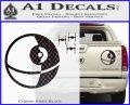 Killer Satellite Spaceship DTFs Decal Sticker Carbon Fiber Black 120x97