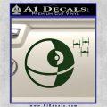 Killer Satellite Spaceship DTFs Decal Sticker Dark Green Vinyl 120x120