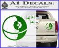 Killer Satellite Spaceship DTFs Decal Sticker Green Vinyl 120x97