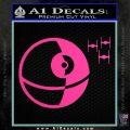 Killer Satellite Spaceship DTFs Decal Sticker Hot Pink Vinyl 120x120