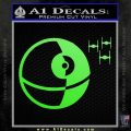 Killer Satellite Spaceship DTFs Decal Sticker Lime Green Vinyl 120x120