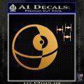 Killer Satellite Spaceship DTFs Decal Sticker Metallic Gold Vinyl 120x120