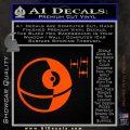 Killer Satellite Spaceship DTFs Decal Sticker Orange Vinyl Emblem 120x120