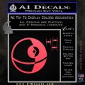 Killer Satellite Spaceship DTFs Decal Sticker Pink Vinyl Emblem 120x120