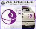 Killer Satellite Spaceship DTFs Decal Sticker Purple Vinyl 120x97