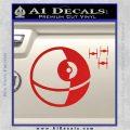 Killer Satellite Spaceship DTFs Decal Sticker Red Vinyl 120x120