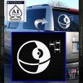 Killer Satellite Spaceship DTFs Decal Sticker White Vinyl Emblem 120x120