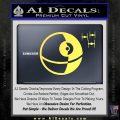 Killer Satellite Spaceship DTFs Decal Sticker Yellow Vinyl 120x120